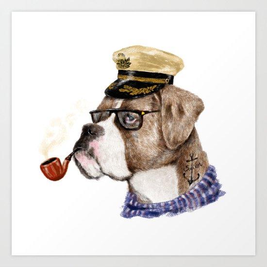 Mr.Boxer Art Print