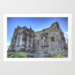 St Margaret's Chapel Edinburgh Castle Art Print