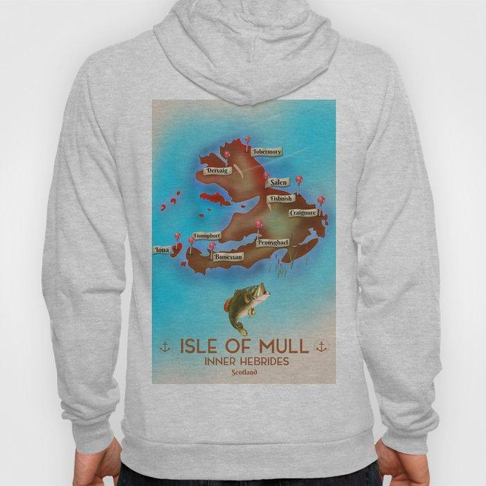 Isle of Mull travel poster. Hoody