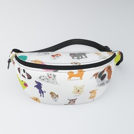 Pattern of dogs, adorable and friendly animal. Fanny Pack