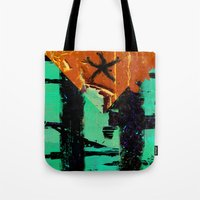 puerto rico Tote Bags featuring Puerto Rico Flag by Fresh & Poppy