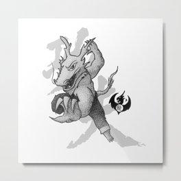 KungFu Zodiac - Dragon Metal Print