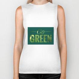 Go Green! Logo Biker Tank