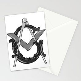 SQUARE AND COMPASS 001 Stationery Cards