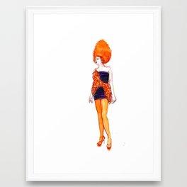 Fashion Illustration – Carlotta Actis Barone S/S 2013 Framed Art Print