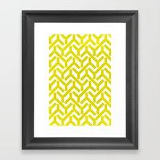 Yellow Geometry Pattern Framed Art Print