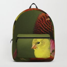 Puff Ball of a Goldfinch Backpack