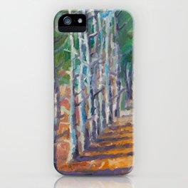 Pine Alley - Original Impressionism Oil Landscape Painting iPhone Case