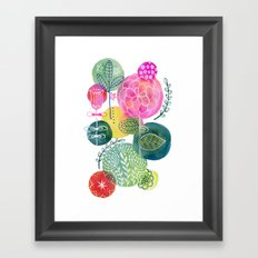 Blooming Circles Framed Art Print