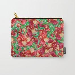 Little Red Flower Garden Carry-All Pouch