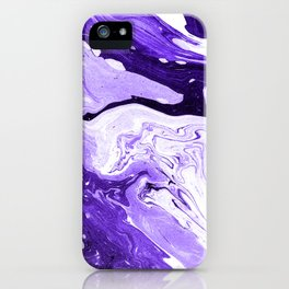 Purple and Black Marble iPhone Case
