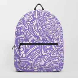 Violet Purple Mandala Detailed Ethnic Tribal Pattern Backpack