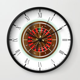 Roulette Wheel Wall Clock