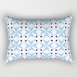star and polka dot 4 - blue Rectangular Pillow