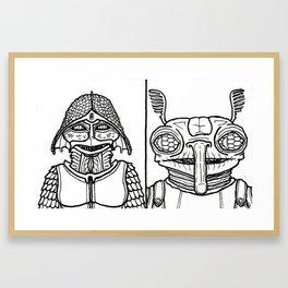 B&W Weirdos 51 Framed Art Print