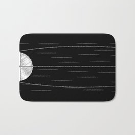 Sputnik Chalk Drawing Bath Mat