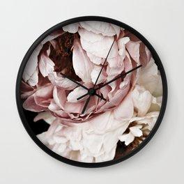 Sweet Dreams Peonies 2 Wall Clock