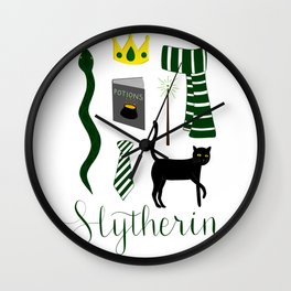 The House of Slytherin Wall Clock