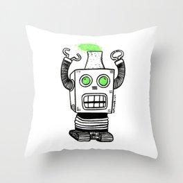 Robo-Meltdown Throw Pillow