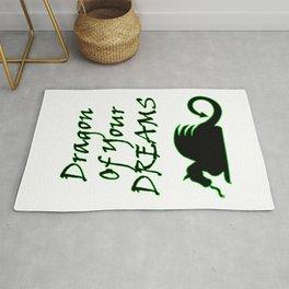 Dragon Of Your Dreams (Black) Rug