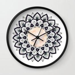 Pink Moon Mandala Wall Clock