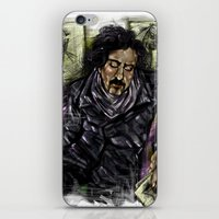 tim burton iPhone & iPod Skins featuring Mr. Burton by Carol Wellart