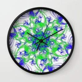 Symmetrical Swirl Wall Clock
