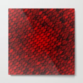 Red Dragon Scales Metal Print