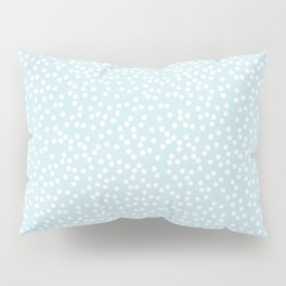 Palest Blue and White Polka Dot Pattern Pillow Sham