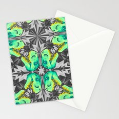 T. Rex Ice Pattern Stationery Cards