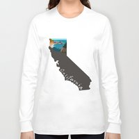big sur Long Sleeve T-shirts featuring California: Big Sur by Brooke Loeffler