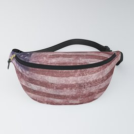 US Flag vintage worn out Fanny Pack