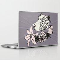 pitbull Laptop & iPad Skins featuring Majestic Pitbull by Carrillo Art Studio