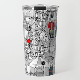 retro circus bw col Travel Mug