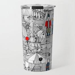 retro circus bw col Travel Mug
