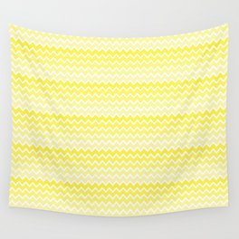 Yellow Ombre Chevron Wall Tapestry