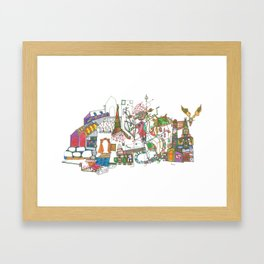 Bright Town Framed Art Print