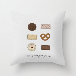 Never Gonna Give You Up Throw Pillow