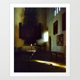 A Candle in the Dark Art Print