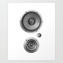 Subwoofer Speaker on white Art Print