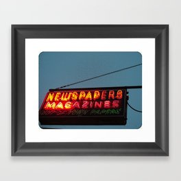 Vintage Neon Newstand Sign ~ Chicago Architecture Framed Art Print