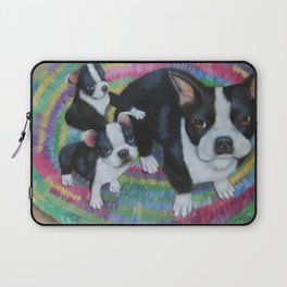 Boston Terrier and Puppies Laptop Sleeve