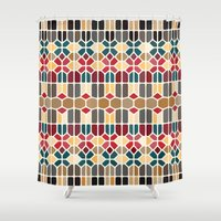 budapest Shower Curtains featuring Budapest Voronoi by Enrique Valles