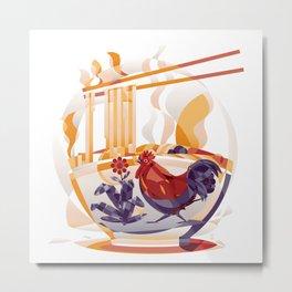 Mie Ayam Metal Print