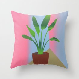 Palm Room Throw Pillow