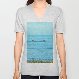Circle of Rocks, The Cormorants and the Whale  Unisex V-Neck