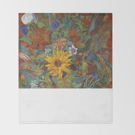 flower 2【Japanese painting】 Throw Blanket