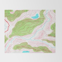 Let's go hiking - topographical map Throw Blanket