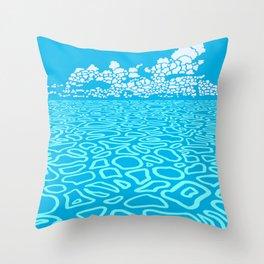 Tropical Ocean by Black Dwarf Designs Throw Pillow
