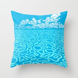 Tropical Ocean by Black Dwarf Designs Deko-Kissen